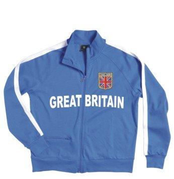 Great Britain Veste à fermeture éclair avec armoiries brodé Taille S–XXL Rouge - Rouge