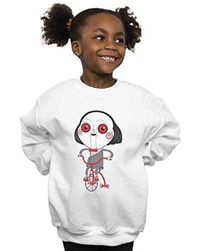 Absolute Cult Pepe Rodriguez Mädchen Billy The Puppet Sweatshirt Weiß 5-6 Years (5 Halloween Billy)