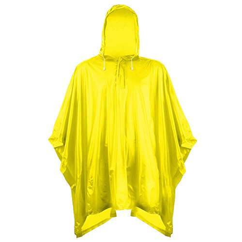 Splashmacs Unisex Adults Plastic Waterproof Rain Poncho Jacket One Size