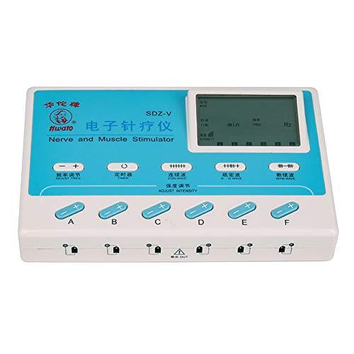 LYHD Multifuncional Electroestimulador TENS EMS Estimulador Muscular Masajeador Electro 6 Canales Digital...