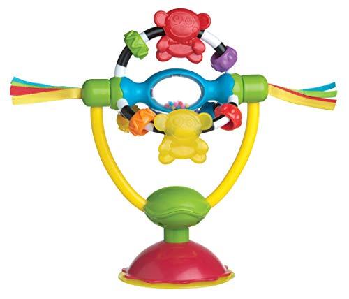 it Saugfuß, Für Tische und Hochstühle, BPA-frei, Ab 6 Monaten, High Chair Spinning Toy, Gelb/Rot, 40121 ()