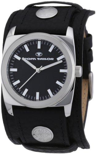 Tom Tailor - 5409001 - Montre Homme - Quartz Analogique - Bracelet Cuir Noir