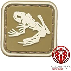 Cobra Tactical Solutions US Navy Seals Bone Frog Skull Skeleton Patch 3D PVC parche militar tactico velcro airsoft