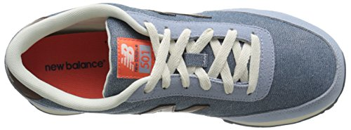 New Balance Womens Classics Traditionnels Textile Trainers Bleu Clair