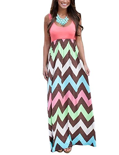 dragonpad-womens-summer-beach-sleeveless-striped-maxi-long-vest-dress-orange-xl