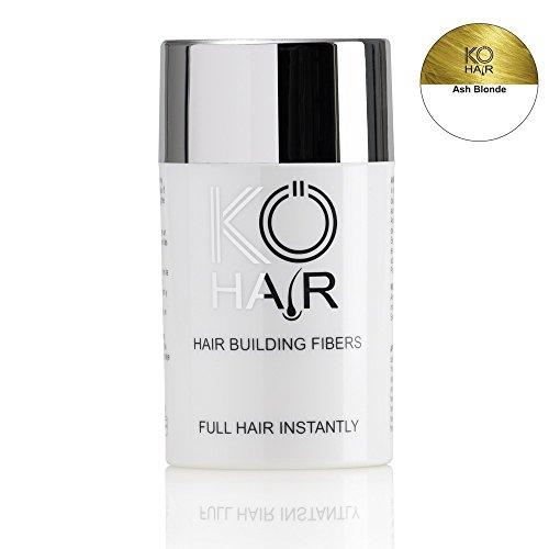 KÖ-HAIR FIBERS Haarverdichtung, Schütthaar, Streuhaar für lichtes Haar und Teilglatze 12g Farbe Aschblond