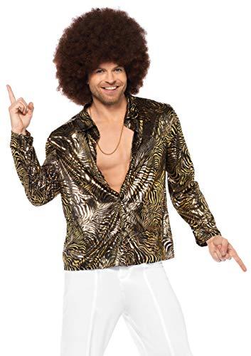 Leg Avenue Herren Kostüm - LEG AVENUE 85586 - goldfolie Disco