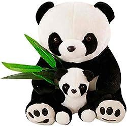 Sentado Felpa Madre y del bebé Hoja de bambú Juguetes Amante de los niños del Regalo de la muñeca de los Animales Rellenos Regard