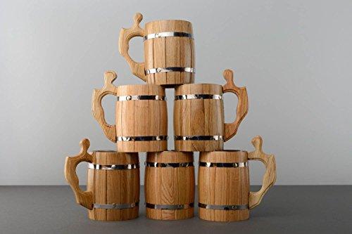Chopes a biere en bois faites main