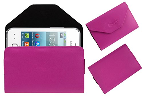 Acm Premium Pouch Case For Samsung Rex 80 S5222r S5222 Flip Flap Cover Holder Pink  available at amazon for Rs.179