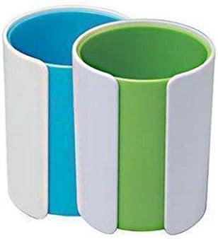 Liu Yu·Bureau, bureau papeterie bleu vert porte-stylo rond mignon mignon mignon créatif de mode 2 pcs/set | De Haute Qualité Et Peu Coûteux  a7a4d5