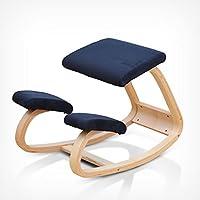Preisvergleich für Sitzkorrekturstuhl Massivholz Der richtige Stuhl Kinder lernen Bürofamilie Richtige Sitzposition Wirbelkörperkorrektur Yoga Stuhl ( Color : Dark blue )