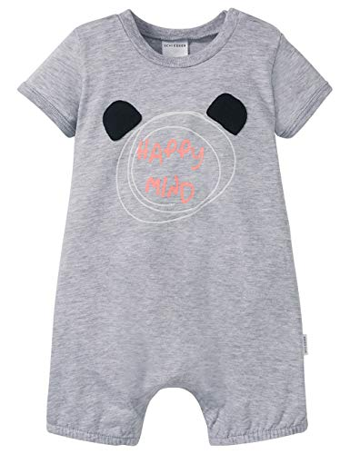 Schiesser Jungen Baby Spieler 1/2 Zweiteiliger Schlafanzug, Grau-Mel. 202, 92 (Herstellergröße: 092)