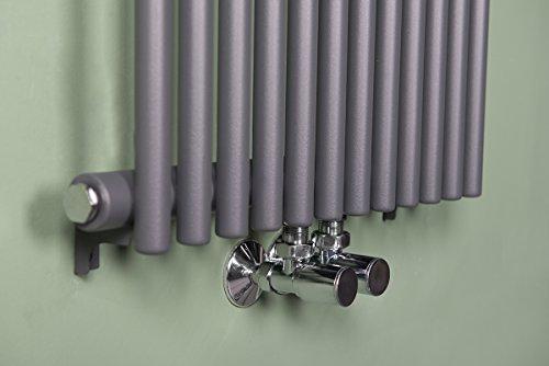 Scaldasalviette termosifone di design mm grigio climat