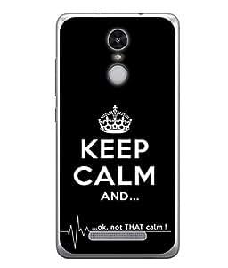 PrintVisa Designer Back Case Cover for Redmi Note 3 (keep calm light hearted message)