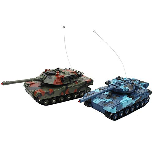 Vrarula Ferngesteuertes Auto, Kleines Spielzeugauto für Kinder Doppeltes Kampfpanzerautofernsteuerungsauto