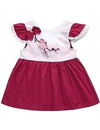 vestidos de niña, ASHOP Vestido de encaje estampado floral vestidos de fiesta princesa niña Vestido de Tutú casual vestido de verano Ropa para 0-24 meses, Hot sale!
