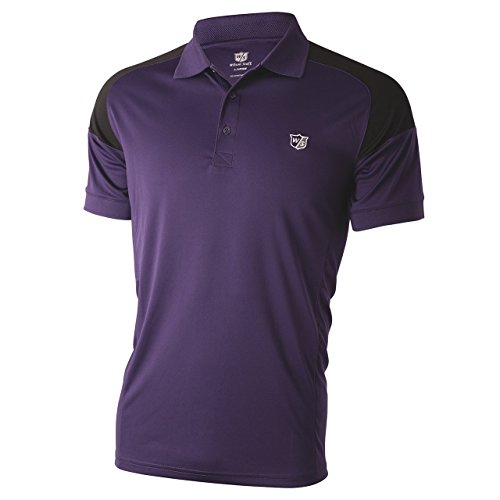 Mens Performance Golf Shirt (Wilson Staff Mens Performance Polo-Shirt Lila Grösse XL)