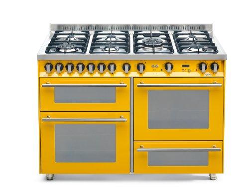 Lofra PG126SMFE+MF/2CI - Cocina (Cocina familiar tipo industrial, Amarillo, Giratorio, Frente, Encimera...