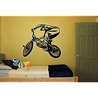 Wall Decal Sticker Bedroom BMX Bicycle Bike Jump Kids Girls Boys Teenager Room bo2888