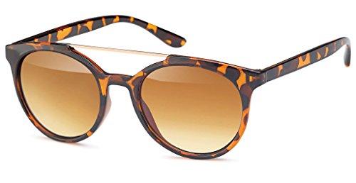 UVprotect Damen Retro Wayfarer Style Sonnenbrille Gestell havanna W67-3