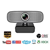Spedal Full HD Webcam 1080p, Live Streaming Caméra avec Microphone USB, Caméra Web...