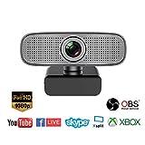 Spedal Full HD Webcam 1080p, Live Streaming PC Camera con Microfono, Webcam USB...