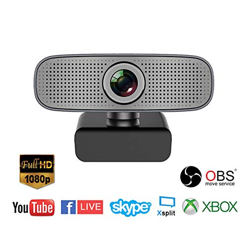Spedal Full HD Webcam 1080p, Schönheit Live Streaming Webcam, Computer Laptop Kamera für OBS Xbox XSplit Skype Facebook, Kompatibel für Mac OS Windows 10/8/7 Skype Laptop