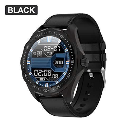 yangguifengji SENBONO S09 Smart Watch Business Bracciale da Uomo Rotondo con cardiofrequenzimetro, HD Full Screen-Touch, IP68...
