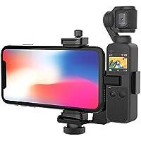 Smatree Supporto per Fotocamera e Supporto per Telefono Compatibile con DJI OSMO Pocket/iPhone XR/XS / 8 (OSMO Pocket e iPhone Non Sono Inclusi)