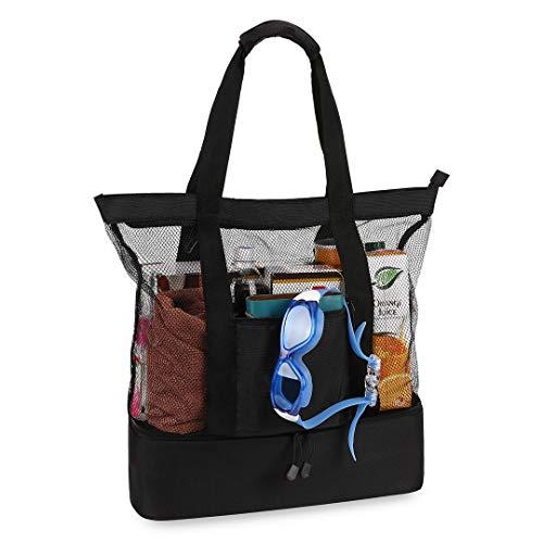 Plambag Strandtasche mit isoliertem Picknick-Kühler, leichtes Nylon, große Reisetasche -