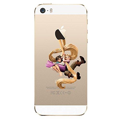 Disney Princess-Custodia trasparente in poliuretano termoplastico morbido, per Apple Iphone 4/4S/5/5S/5C/6/6/6S & 6 S **, offerta speciale motivo a