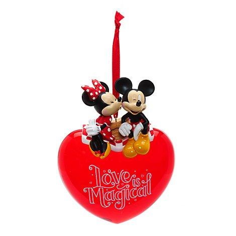 Unbekannt Mickey und Minnie Maus Love Aufhängen, Kissing Ornament, offizielles Disney, Disneyland Edition,