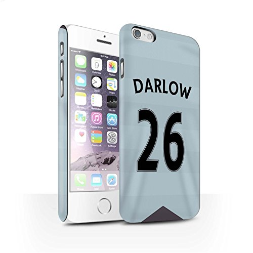 Offiziell Newcastle United FC Hülle / Matte Snap-On Case für Apple iPhone 6S / Pack 29pcs Muster / NUFC Trikot Away 15/16 Kollektion Darlow