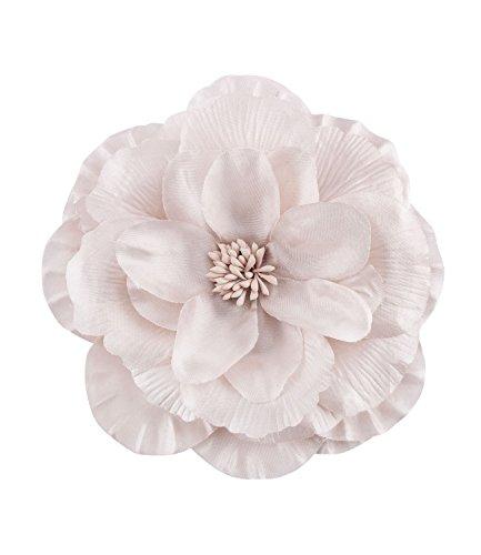 SIX 'Sommer' Damen Haarschmuck, große Blütenhaarspange Farbe: champagner aus Textil