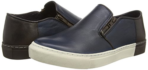 Dune Taxi Cab, Mocassins homme Bleu (navy Leather)
