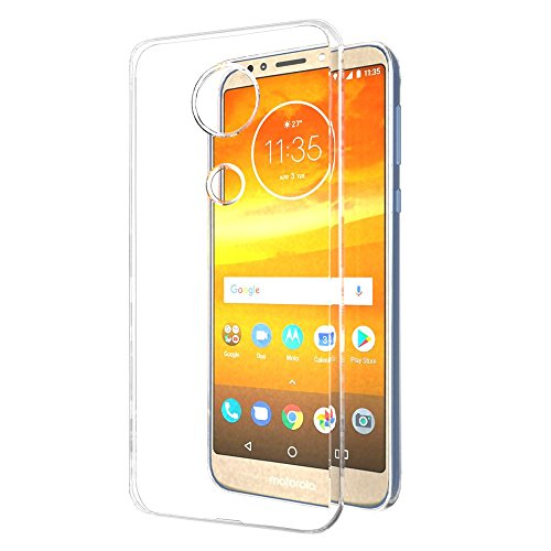 super popular fd14f 2a608 Amazon Brand - Solimo Moto E5 Plus Mobile Cover (Soft & Flexible Back  case), Transparent