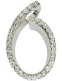 Fascination by Ellen K. - F047340110 - Collier Femme - Or blanc 333/1000 (8 carats) 1.4 gr - Oxyde de Zirconium