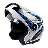 LL Motorrad-Full Face Helmetelektrische Auto-Helm Volldeckel-Doppel-Objektiv-Männer und Frauen,Black,XL