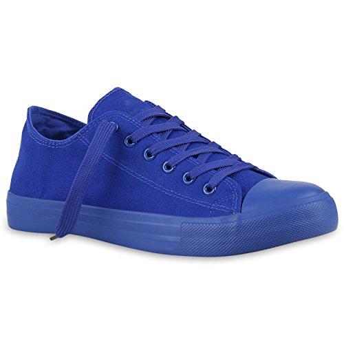 Sapatilhas Das Senhoras Baixos Tênis De Lona Sapatos Básicos De Lazer Azul