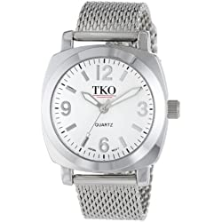 TKO ORLOGI Women's TK586S Milano Silver-Tone Watch with Mesh Band
