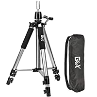 GEX Heavy Duty Canvas Block Head Tripod Cosmetology Training Doll Head Stand Mannequin Manikin Head Tripod Wig Stand With Travel Bag