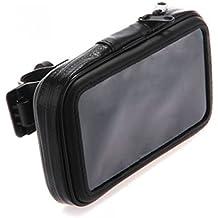 lovelifeast Soporte de Manillar con cremallera impermeable para para iPhone 5, 5S y 5C de la motocicleta MTB Bolsa Hold Stander