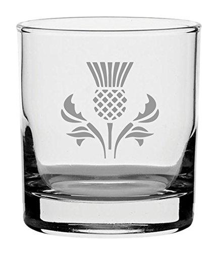traditionellen Whisky Glas mit Schottische Distel Design
