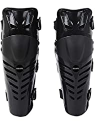 RENNICOCO Knee Pads Adjustable Long Leg Sleeve Gear Crashproof Antislip Protective Shin Guards for Motorcycle Mountain Biking-1 Pair