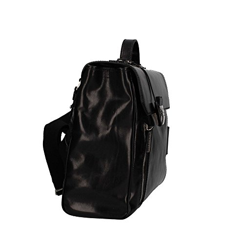 Cartella The Bridge 40 cm con patta 06422501 cuoio nero