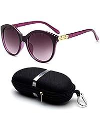 AOLVO Gafas de Sol polarizadas Redondas Vintage Retro UV400 Protección Gafas Mujeres Moda Gafas Gafas con