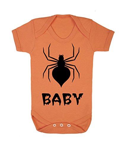 Spider Baby Strampler (schwarz auf orange