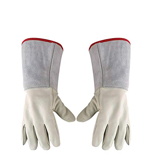 KYCD Kryogene Handschuhe Wasserdichte Schutzhandschuhe Flüssigstickstoff, Rindsleder Warm -
