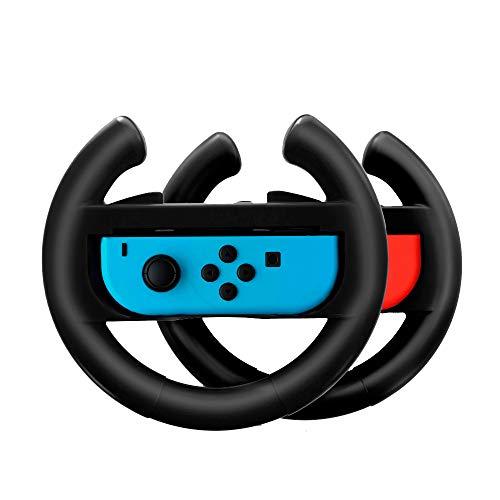 Switch Lenkrad für Mario Kart 8 Deluxe Gear Club Unlimited Cars 3 Driven To Win Team Sonic Racing Hello Kitty Kruisers Simulation Rocket Leagu Paar Lenkräder Joy-Con Controller Steering Wheel - Hello-kitty-racing-spiel